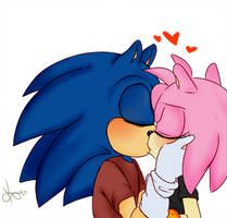 Kiss By Okierose Cartoon Profile Pics Sonic And Amy Sonic