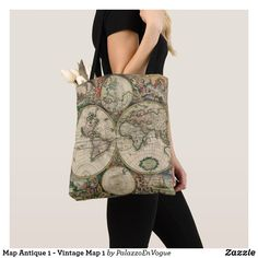Map Antique 1 - Vintage Map 1 Gucci, Shoulder Bag, Map, Tote Bag, Vintage, Antiques, Style, Fashion, Antiquities
