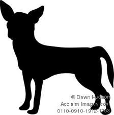 chihuahua silhouette - Google Search