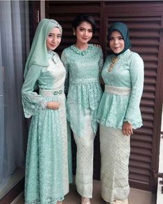 Party Gamis Models For Fat Women Kebaya Lace, Kebaya Hijab, Batik Kebaya, Kebaya Dress, Batik Dress, Dress Brokat Muslim, Kebaya Muslim, Muslim Dress, Model Kebaya Modern Muslim