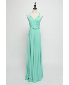 Long Infinity Bridesmaid dress in Aqua Green