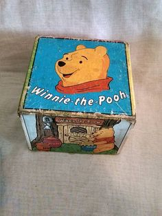 Vintage Antique Educational Game Toy Winnie the Pooh Cubes Stack Square Nesting  #Torpedo