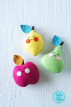PDF Pattern Cheery Fruities Felt Softie Pattern by sosaecaetano