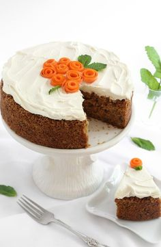 single-layer Carrot Cake with Cream Cheese Frosting