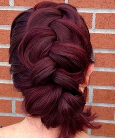9 thick mohawk braid updo