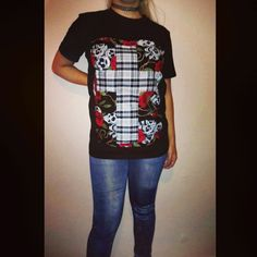 SALE - funkyrox handcrafted patchwork tee for women comes in size small only one made