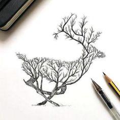 Beautiful Deer Tattoo Design