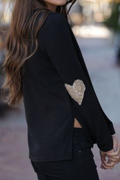 We can't get enough of the gold sequined heart detailing on the sleeves of our Heart's On the Line Black Sweater! Shop Dress Up, Cute Diys, Love To Shop, Playing Dress Up, Black Sweaters, Diy Ideas, Winter Fashion, Ice, Heart
