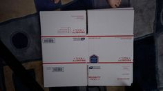 First of all I got those FREE priority mail boxes from USPS in large and medium.  Then I used them as sleeves for my artwork before putting them all in one big…