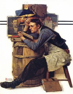 """The Law Student"" . by Norman Rockwell - Saturday Evening Post Cover February 1927 Peintures Norman Rockwell, Norman Rockwell Art, Norman Rockwell Paintings, Art Of Manliness, Illustrations, Illustration Art, The Saturdays, Famous Artists, Oeuvre D'art"