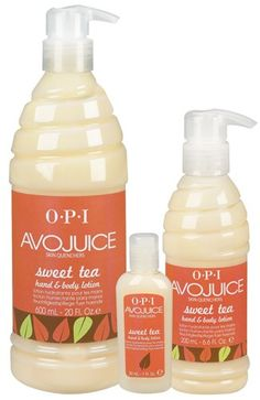 """Sweet Tea by OPI...smells just like """"sweet pea"""" from bath & body works!"""