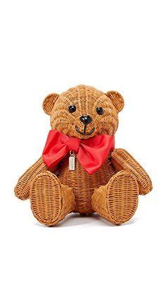 Kate Spade - New York - Women's Wicker Teddy Bear Bag. Adorable Teddy Bear Wicker Handbag by Kate Spade. Kate Spade Handbags, Kate Spade Bag, Queen Of Spades, Womens Designer Bags, Cute Bags, Teddy Bear, Toys, Amazon, Crossbody Bags