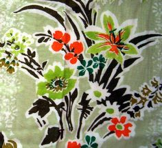 VINTAGE FLORAL FABRIC by thevintagelaundress, via Flickr
