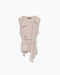 ZARA - COLLECTION AW15 - FLOWING WAISTCOAT WITH DRAWSTRING