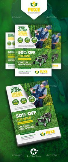 Garden Landscape Flyer Templates - #Garden #Landscape #Flyer #Corporate #Template #Design. Download here: https://graphicriver.net/item/garden-landscape-flyer-templates/19465824?ref=yinkira