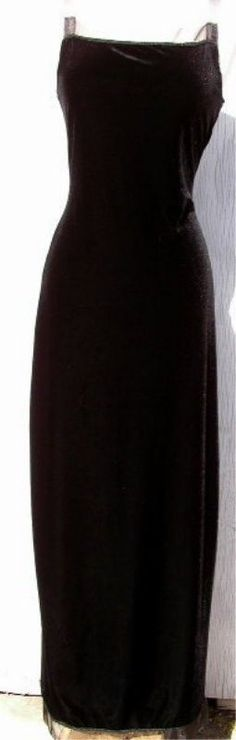LIP GLOSS LBD Dress MEDIUM Black NEW  Soft velvet Long Pull On Party Holiday #LipGloss #WigglePencilSheathBallGown #LittleBlackDress