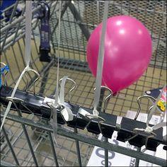 Binder Clip As Balloon Anchor in Merchandising