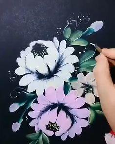 Canvas Painting Tutorials, Diy Canvas Art, Diy Painting, Painting & Drawing, Art Drawings Sketches Simple, Watercolor Paintings, Flower Paintings, Flower Art, Stationery Items