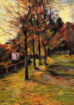 PAUL GAUGUIN Tree Lined Road, Rouen  (c.1885)