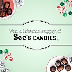 Enter to win a lifetime of chocolate from our friends and sponsor, See's Candies! PLUS daily giveaways! Ends 12/12/14. Click here >> http://www.sees12days.com/?affiliate_id=VSpinterest