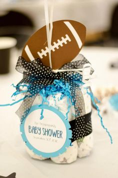 New Ideas for baby shower themes for boys sports center pieces - Baby interests Football Baby Shower, Cowboy Baby Shower, Baby Boy Shower, Baby Shower Decorations For Boys, Baby Shower Centerpieces, Birthday Party Decorations, Diaper Centerpiece, Football Birthday, Baby Boy Birthday