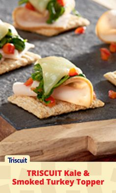 We admit it.  Kale isn't the first ingredient that comes to mind when planning a Final Four®️ party.  But this tasty turkey TRISCUIT topper is just enough to make us reconsider our snacking strategy.