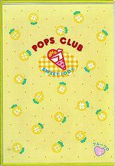 Pops Club writing board (Iron Lace) Tags: cute japan kitsch 80s kawaii 1980s stationery popsclub kutsuwa