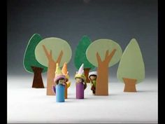 Making Peg Dolls: Animated Book Trailer. Book and wooden peg doll forms available at Bella Luna Toys!