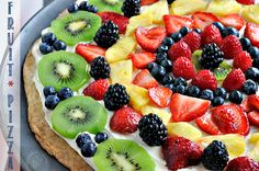 Fresh Fruit Pizza. Very easy to make and the folks at work loved it.