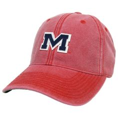promo code 0715b f614f Ole Miss Vintage M Hat in Red by Hotty Toddy Outfitters. Great looking red  hat