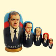 """SHOP-PARADISE.COM:  Matröschka """"Medvedev"""" (M5) 18 cm 26,04 €"""