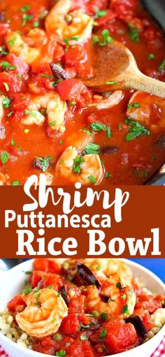 This classic Italian puttanesca sauce is simmered with shrimp and ladled over rice for an easy healthy meal. 336 calories and 5 Weight Watchers SP Healthy Dishes, Easy Healthy Recipes, Top Recipes, Family Recipes, Shrimp Recipes, Shrimp Dishes, Recipe For Mom, Light Recipes, Classic Italian