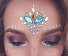 Festival makeup.