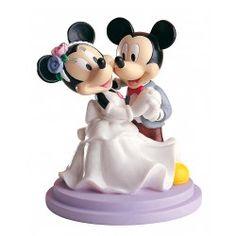 Figura de pastel Novios Mickey&Minnie Bailando