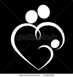 Family heart, symbol - vector - stock vector