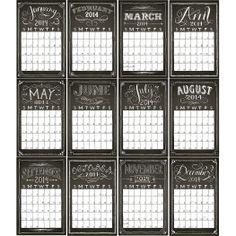 2014 Chalkboard Calendar