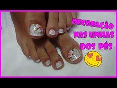 ♥ Diseño de uñas Pies FÁCIL♥ ♥ Easy Nail Decoration - YouTube