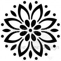 Little Flower - Magenta stamps & stencils - Art Stencil Patterns, Stencil Designs, Embroidery Patterns, Stencil Templates, Stencils, Stencil Art, Deco Stickers, Motif Floral, Silhouette Design