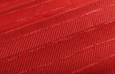 Tanzania Stripe Upholstery Fabric in Persimmon is an Italian cotton and linen blend with a classic pattern and texture perfect for upholstery projects. Discount Upholstery Fabric, Striped Upholstery Fabric, Red Fabric, Red Interior Design, Red Interiors, Red Accents, Green And Orange, Primary Colors