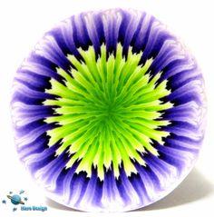Purple green flower cane | by Marcia - Mars design