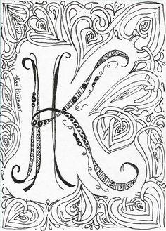 Pix For > Illuminated Letter K