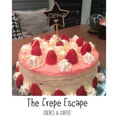 White Chocolate & Strawberry Crepe Cake for Birthday of Deniz!