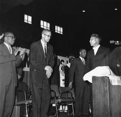 In jail, Malcolm became a member of the Nation of Islam – a comparatively new religious movement that taught black self- Us History, History Facts, Black History, Malcolm X, African History, African American History, Elijah Muhammad, Civil Rights Leaders, My People