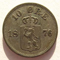 Noorwegen 10 øre 1876