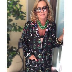 """Valentino on Instagram: """"How to wear silk pajamas by @rossella_jardini floral print by artist @celiabirtwell #loveherstyle"""""""