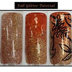 Nail Art How To: Fall Glitter Nails