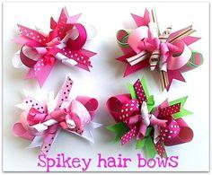 Spikey hair bows