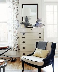 painted dresser and chair