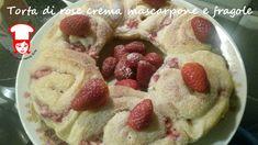 Torta di rose con crema al mascarpone e fragole Una torta bella da vedere e buona da mangiare: sofficissima