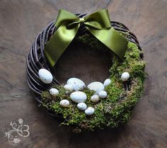Items similar to Easter moss wreath 10 inch - spring door wreaths egg decorations green rustic natural home decor on Etsy Spring Door Wreaths, Easter Wreaths, Christmas Wreaths, Moss Wreath, Diy Wreath, Wreath Ideas, Diy Ostern, Hello Spring, Egg Decorating